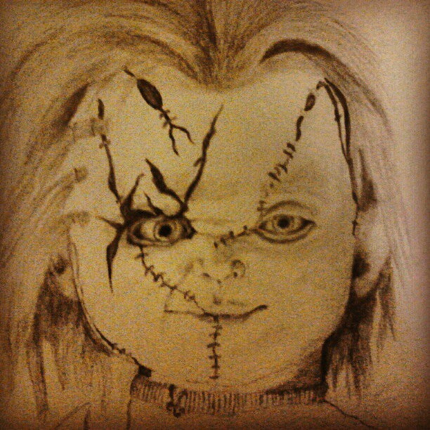 612x612 Wanted To Draw Something For Halloween, Chucky ) By Lalauralor