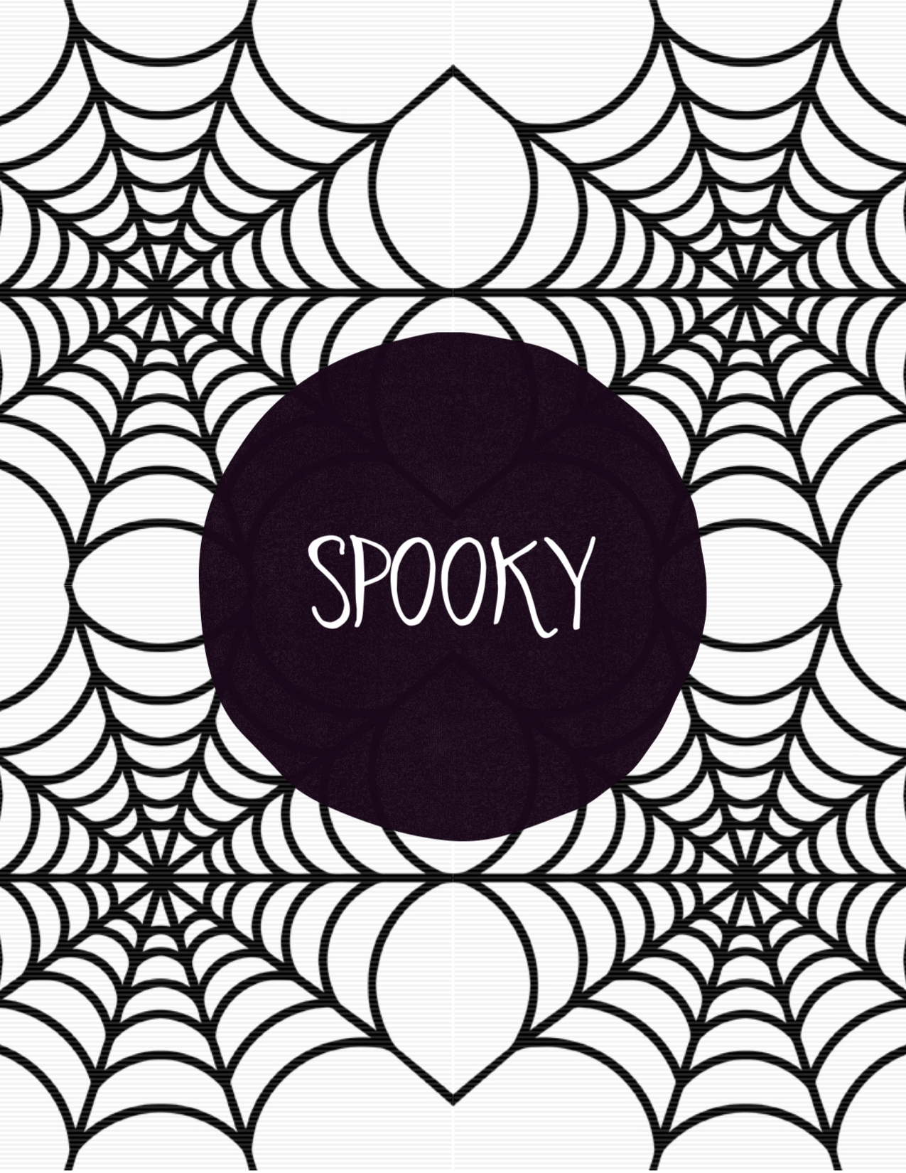 1275x1650 Spooky Halloween Spider Web Free Printable