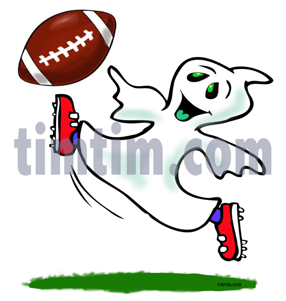571x601 Free Drawing Of Halloween Ghost Football From The Category Sports