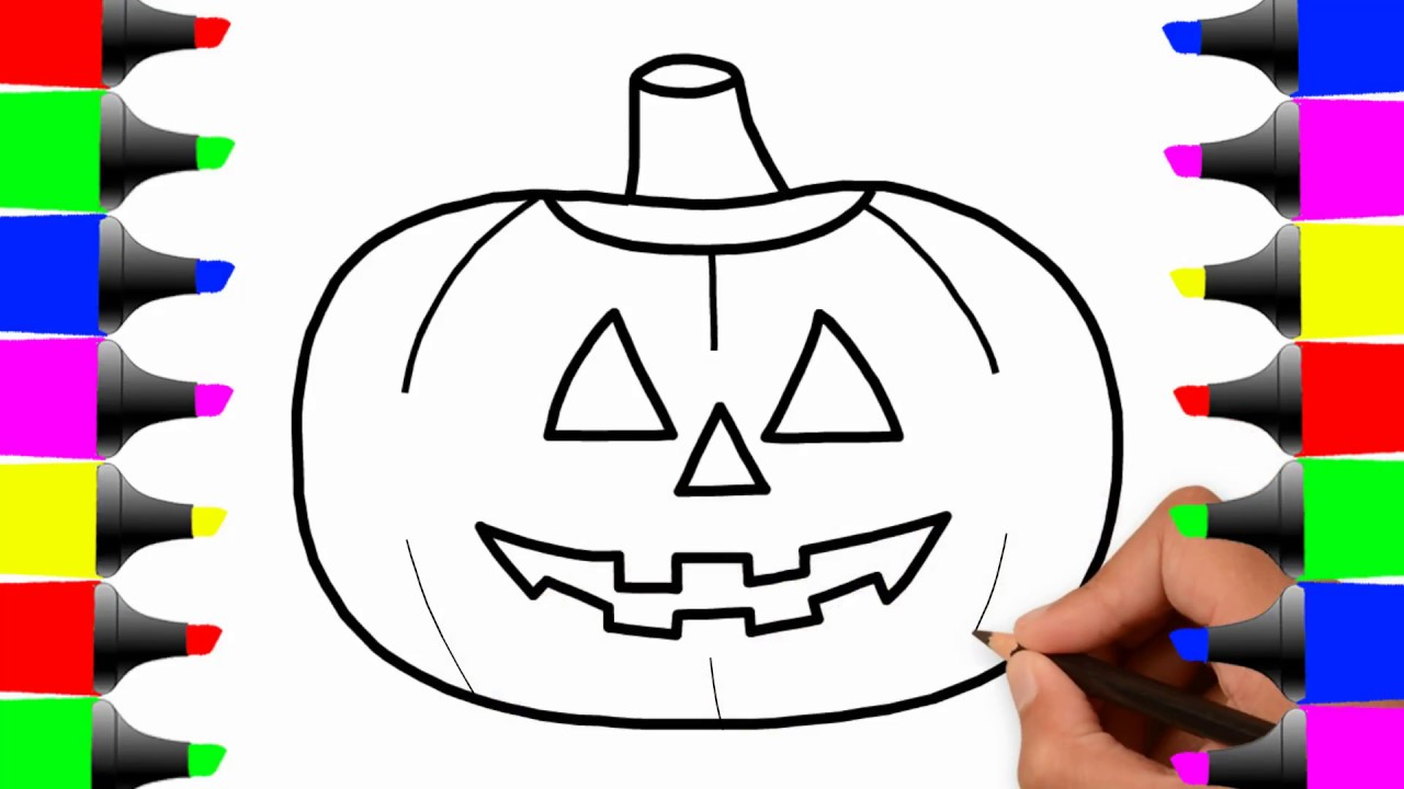 Halloween Pumpkin Drawing For Kids at GetDrawings.com   Free for ...
