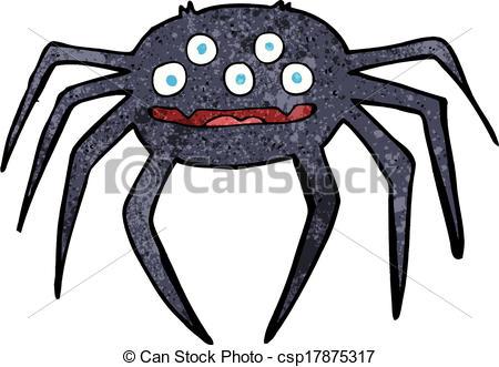 450x331 Cartoon Halloween Spider Vector Clip Art