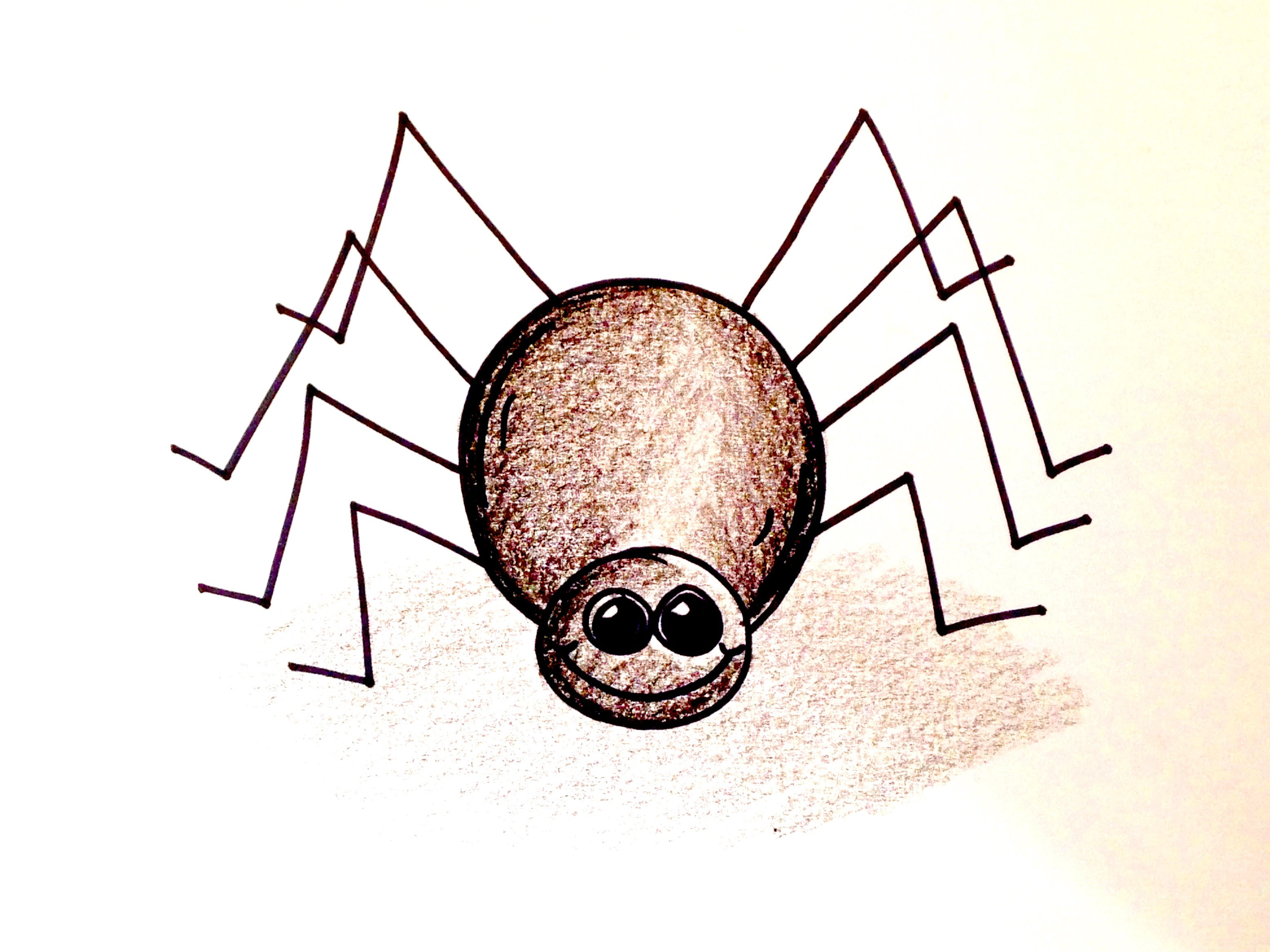 3112x2334 Drawing Lesson How To Draw A Halloween Spider