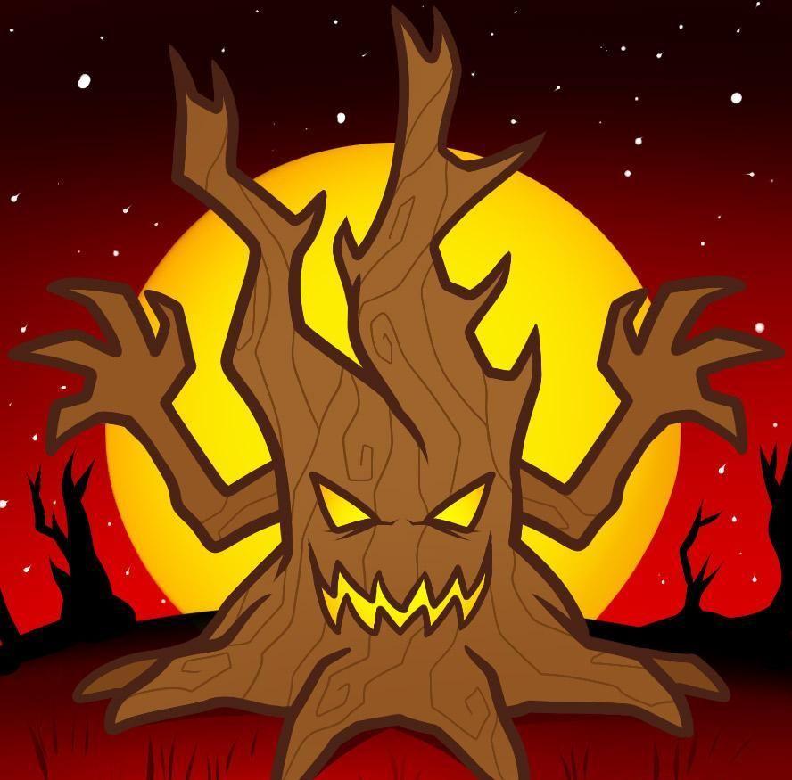 888x875 How To Draw A Halloween Tree 9 Steps