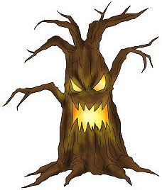 Halloween Tree Drawing at GetDrawings | Free download