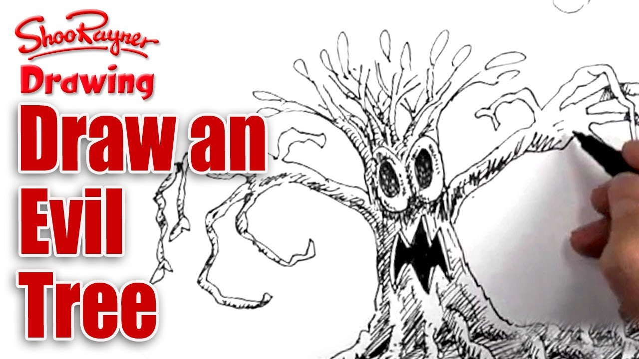 1280x720 How To Draw An Evil Tree