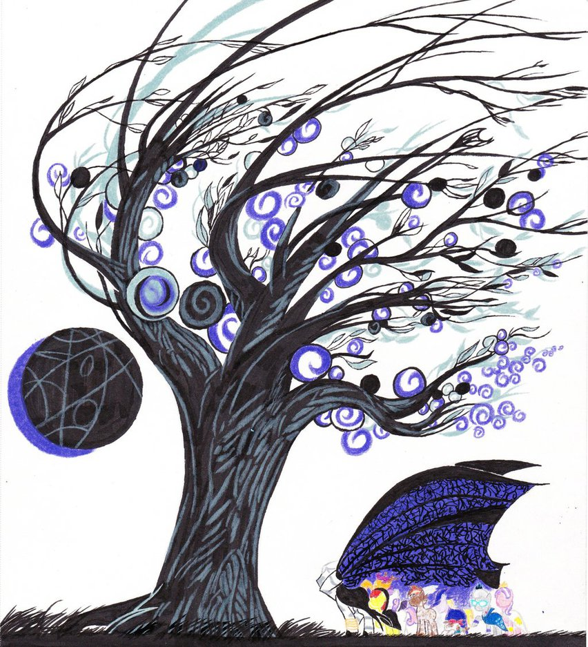 852x937 Mlp Halloween Tree By Topwanted