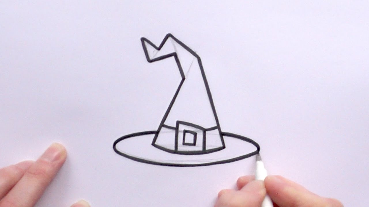 1280x720 How To Draw A Cartoon Witch's Hat For Halloween