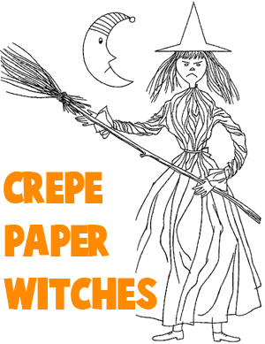 300x389 Witch Crafts For Kids Ideas To Make Halloween Witches With Easy