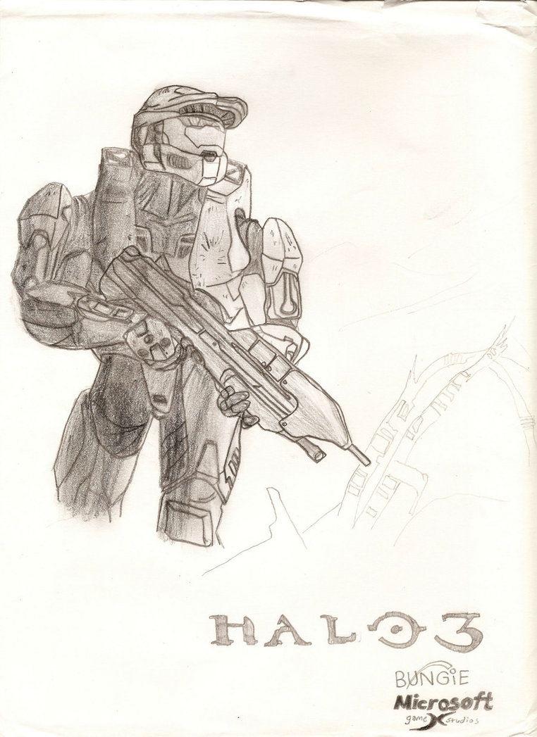 762x1047 Halo 3 Cover Drawing By Ant787