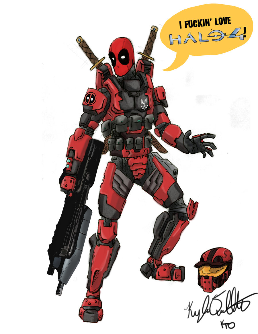 900x1165 Deadpool Loves Halo 4 By On @