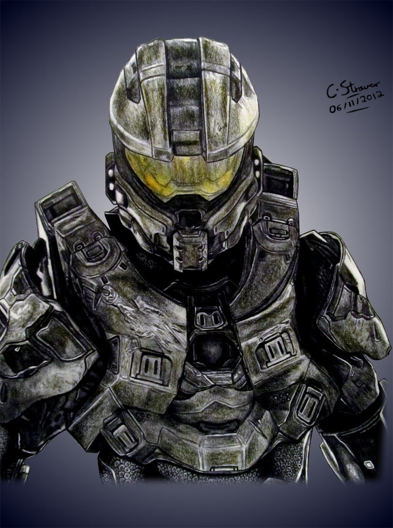 771x1035 Halo 4 Master Chief Drawing By Lethalchris