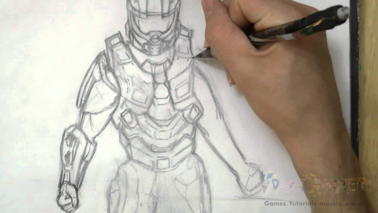 1280x720 How To Draw Master Chief (Halo 4)
