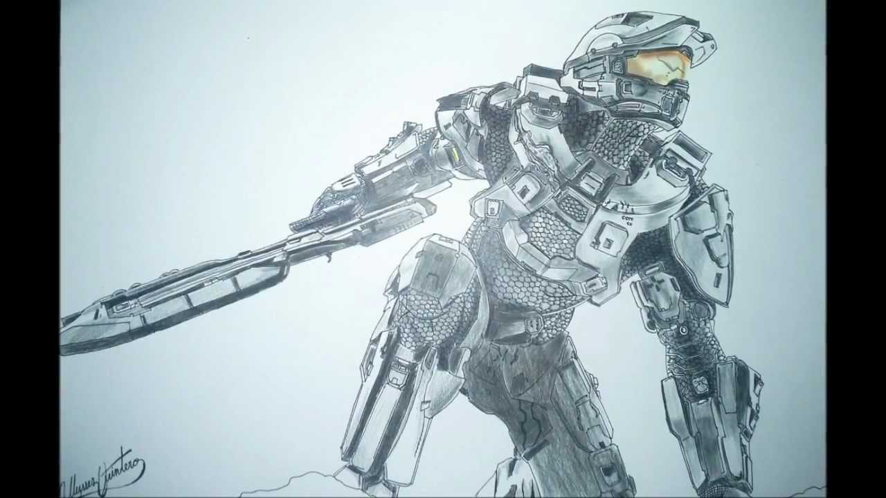 1280x720 The Best Halo 4 Master Chief Speed Drawing Hd