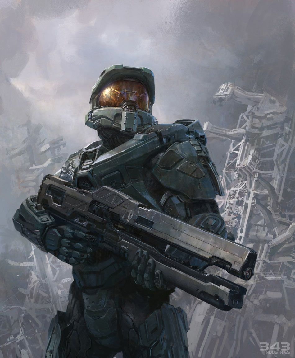 950x1150 Halo 4 Art Amp Pictures, Master Chief With Railgun Video Games