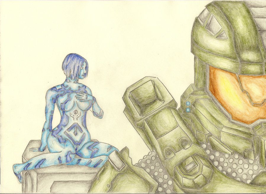 899x654 Halo 4 Cortana And Master Chief By R4nkstrail