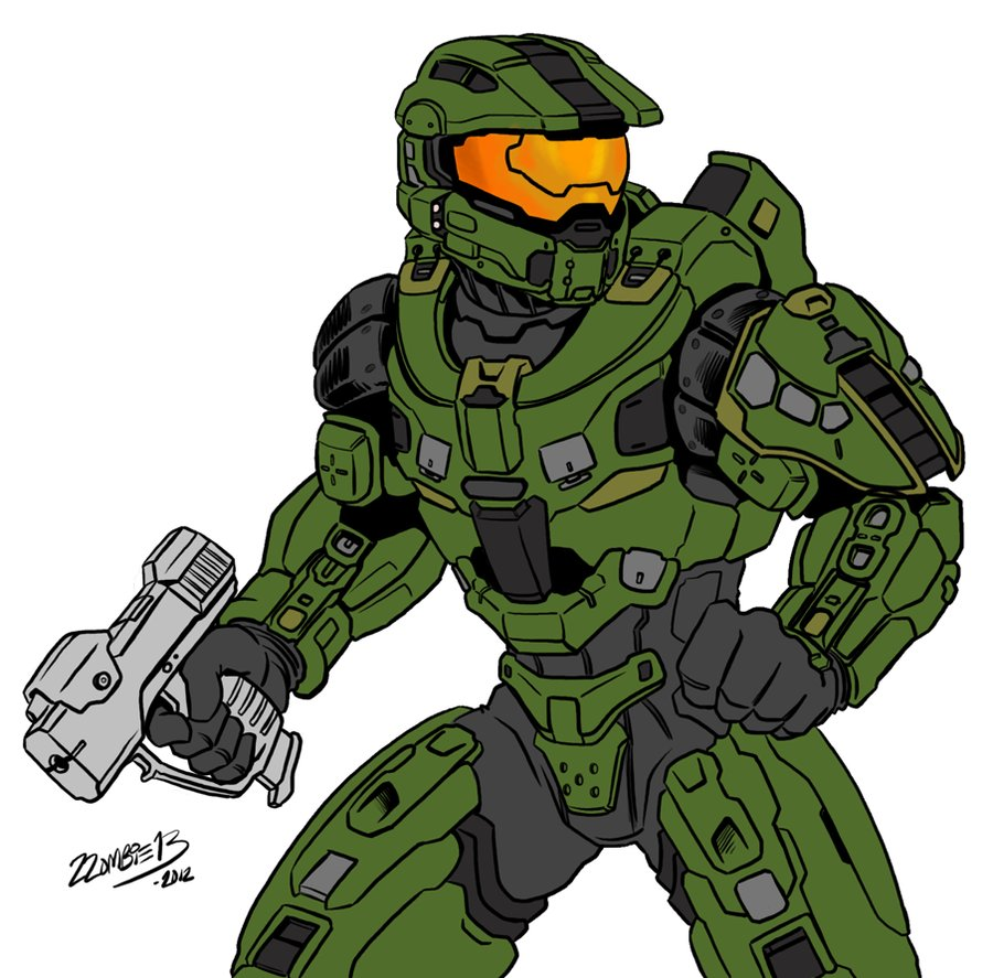 900x887 Halo 4 Master Chief (Fixed) By Zzombiexiii