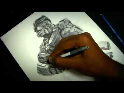 480x360 Halo 4 Master Chief Drawing Insane!!
