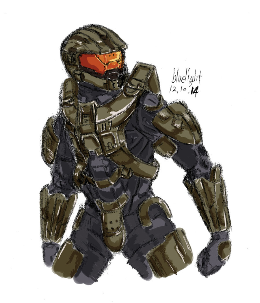 900x1049 Halo4 Master Chief By Bluelightt