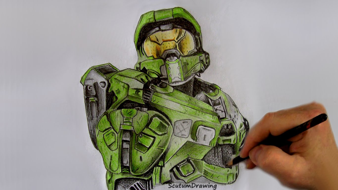Halo 5 Drawing at GetDrawings com | Free for personal use