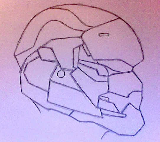 Halo Helmet Drawing at GetDrawings com | Free for personal