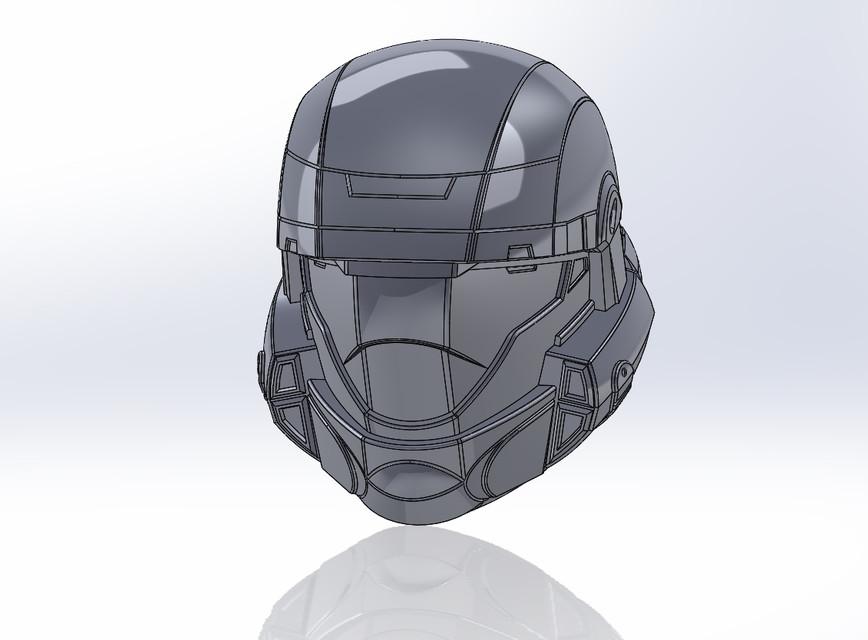 868x640 Halo Odst Helmet 3d Cad Model Library Grabcad