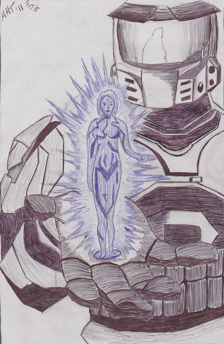 722x1107 Halo Master Chief E Cortana By Kamina117