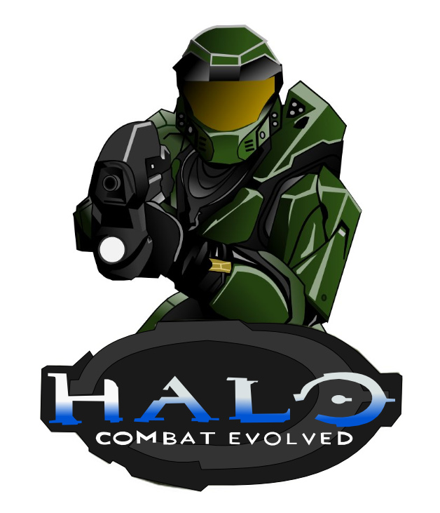 628x731 Master Chief Halo Ce Drawing. Drawn By Me On Inkscape.