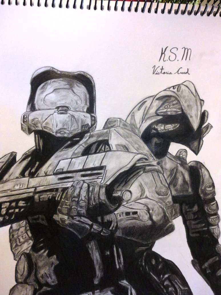 774x1032 Master Chief And Arbiter From Halo 3 By Victoria Creed