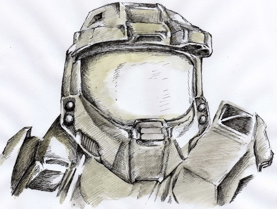 900x680 Master Chief From Halo By Micriise