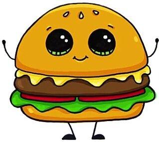 319x285 Hamburger Artdrawings Hamburgers, Kawaii And Drawings