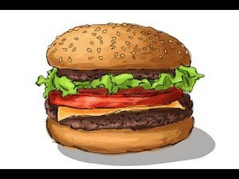 480x360 How To Draw A Burger