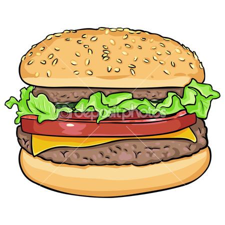 450x450 Vector Cartoon Hamburger Pencil Drawings