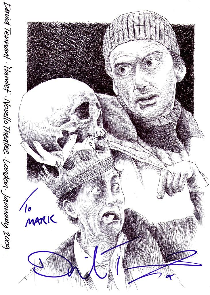 730x1024 Drawing David Tennant In Hamlet