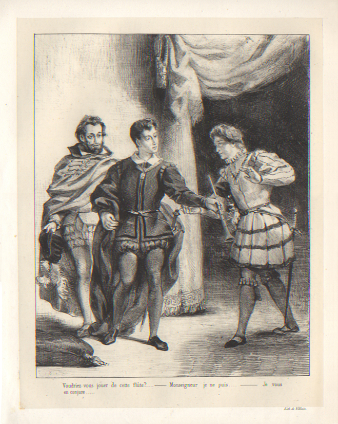 659x825 Hamlet, Delacroix's Lithographs, Published By Gihaut