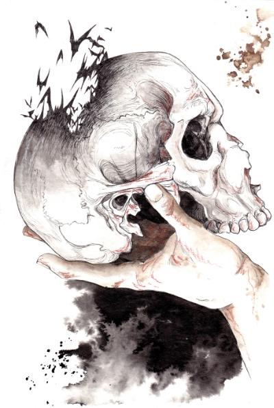 400x596 Hamlet Skull Drawing Hamlet Skull Drawing Batman Skull