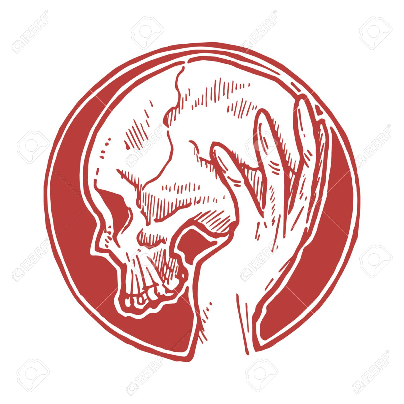 1300x1300 Hand Holding Skull Royalty Free Cliparts, Vectors, And Stock