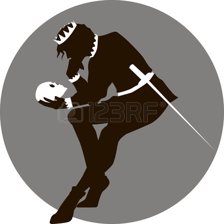 450x450 Shakespeare With Skull Of Yorick Royalty Free Cliparts, Vectors