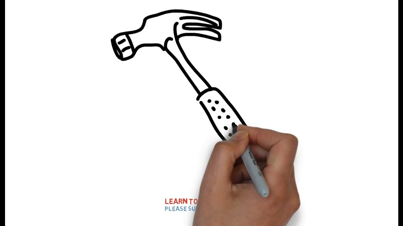 1280x720 Easy Step For Kids How To Draw A Hammer