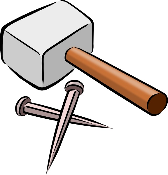 576x600 Snarkhunter Hammer And Nails Clip Art Free Vector In Open Office