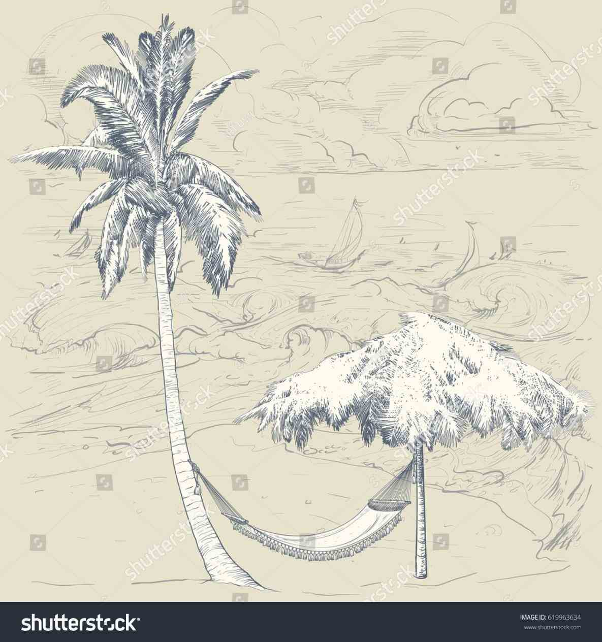 1185x1264 And White Pencil In Color Hammock Palm Tree Hammock Drawing