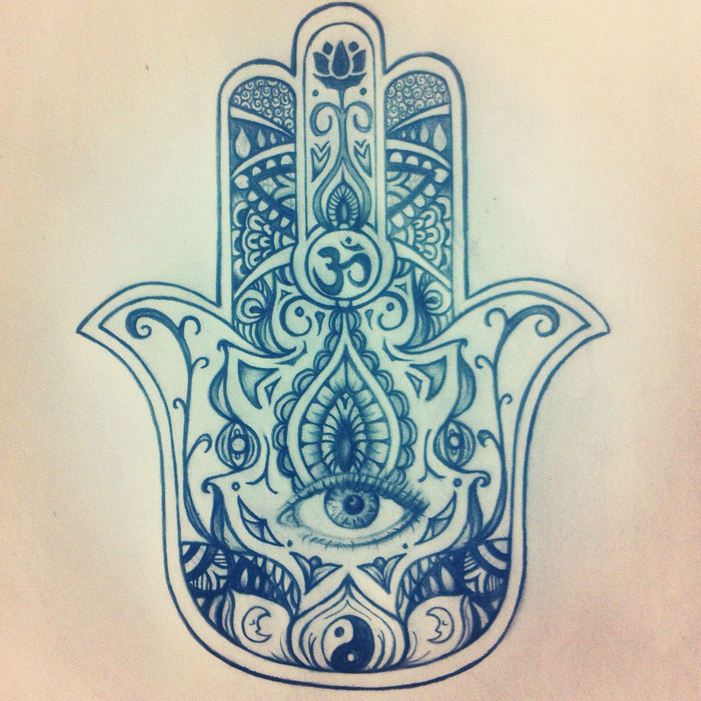 1440x1440 My Original Hamsa Drawing For A Tattoo. My Artwork
