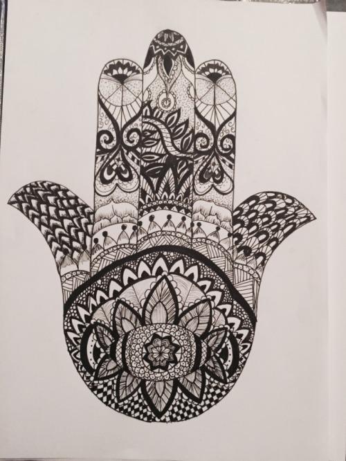 500x666 Hamsa Hand Drawing Tumblr