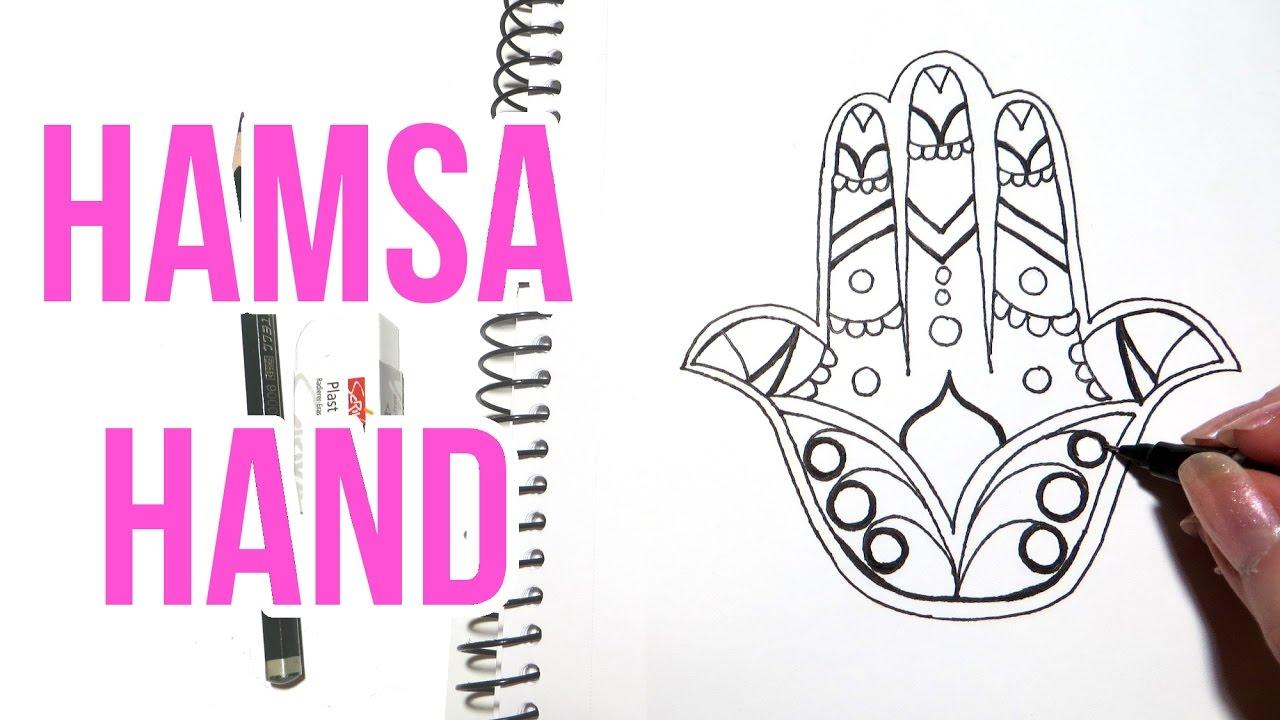 1280x720 Hamsa Hand Drawing