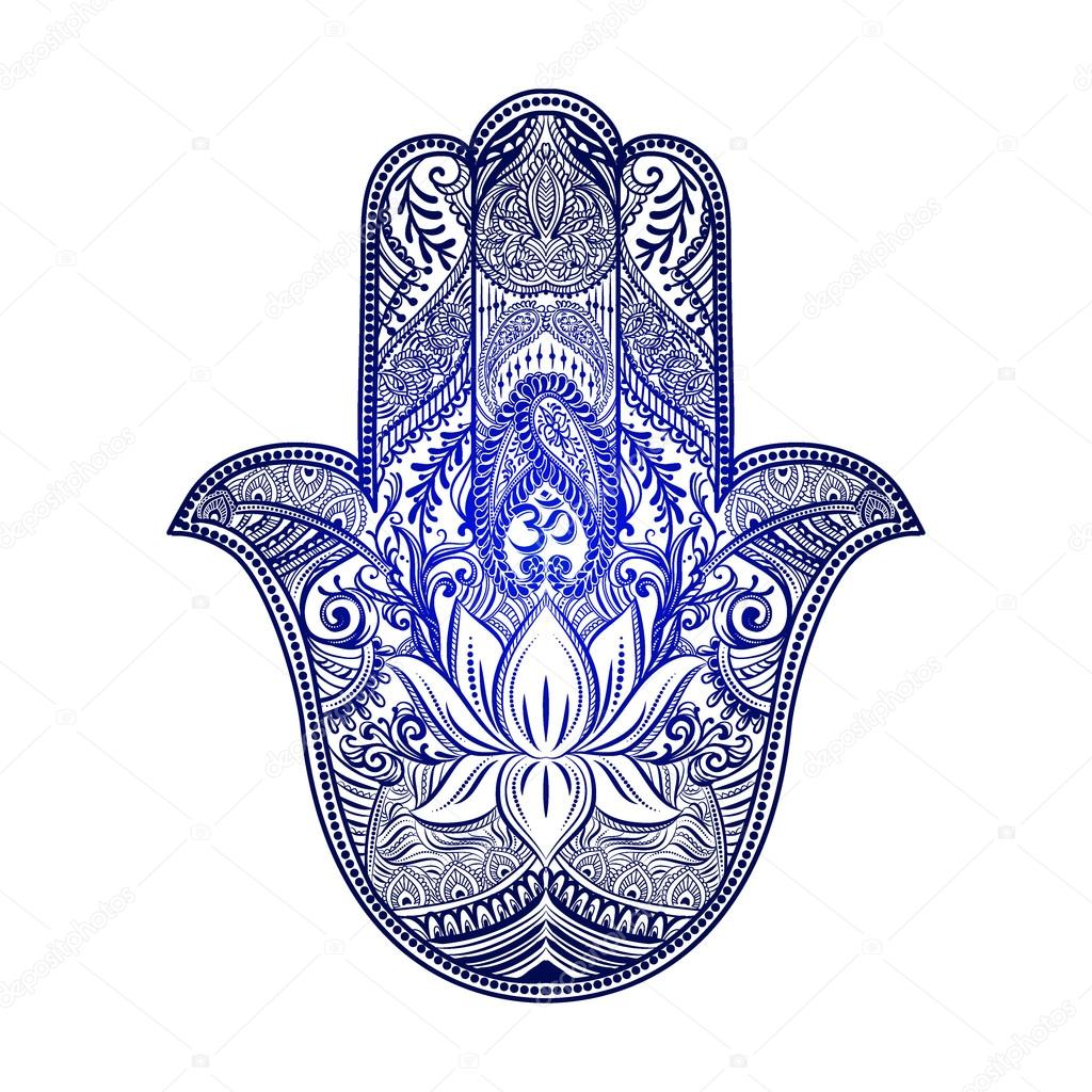 1024x1024 Hamsa Hand Of Fatima Stock Vector Yulianas