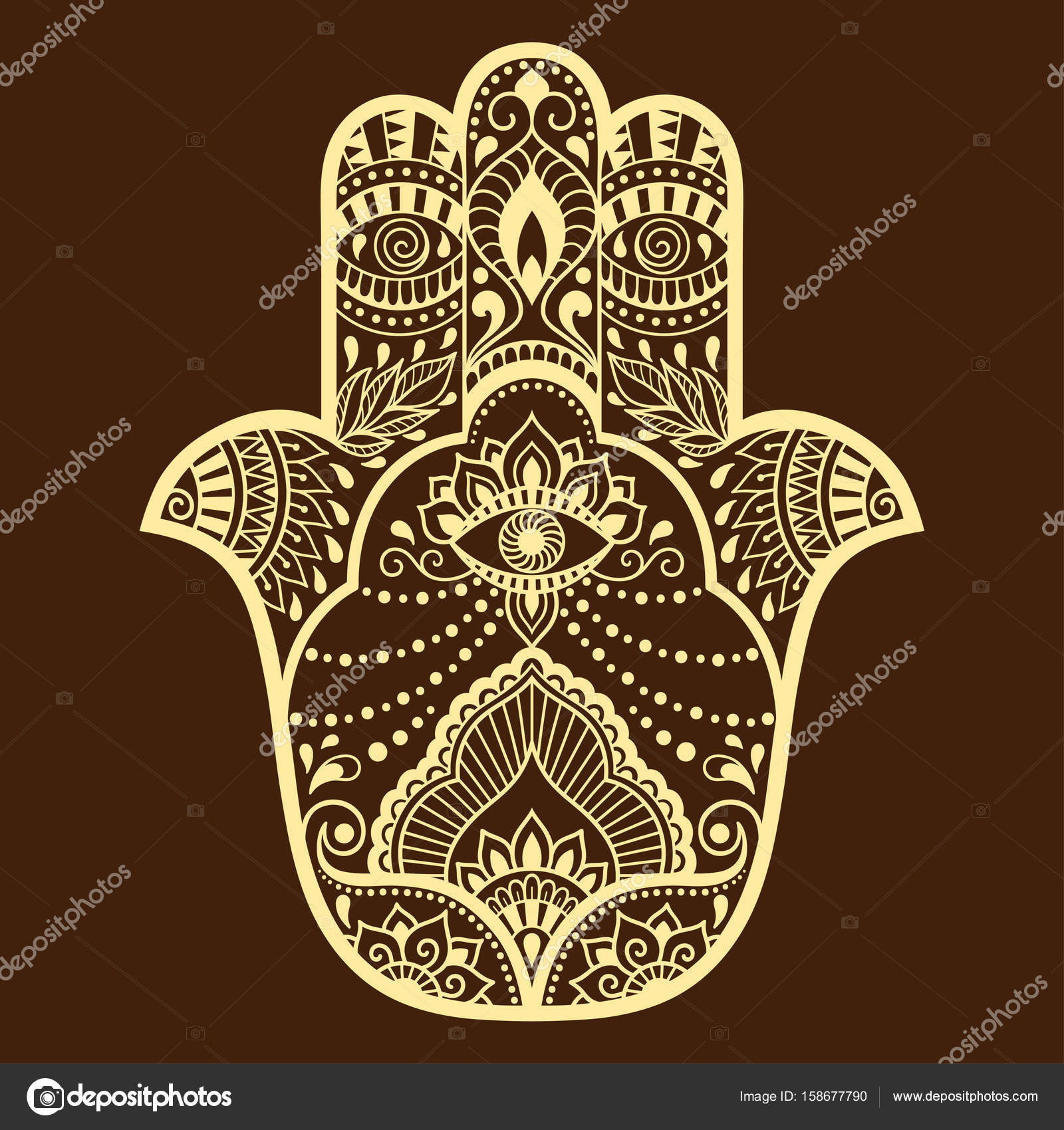 1600x1700 Vector Hamsa Hand Drawn Symbol. Decorative Pattern In Oriental