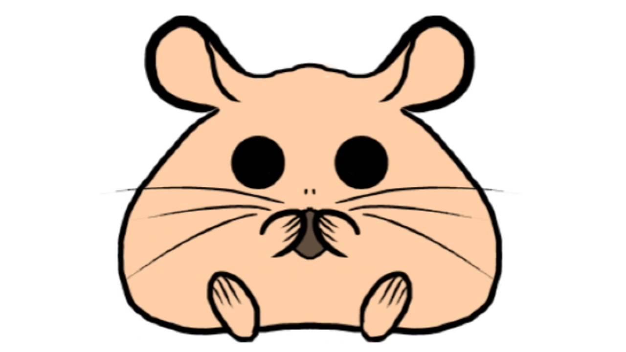 1280x720 Cute Hamster Drawing
