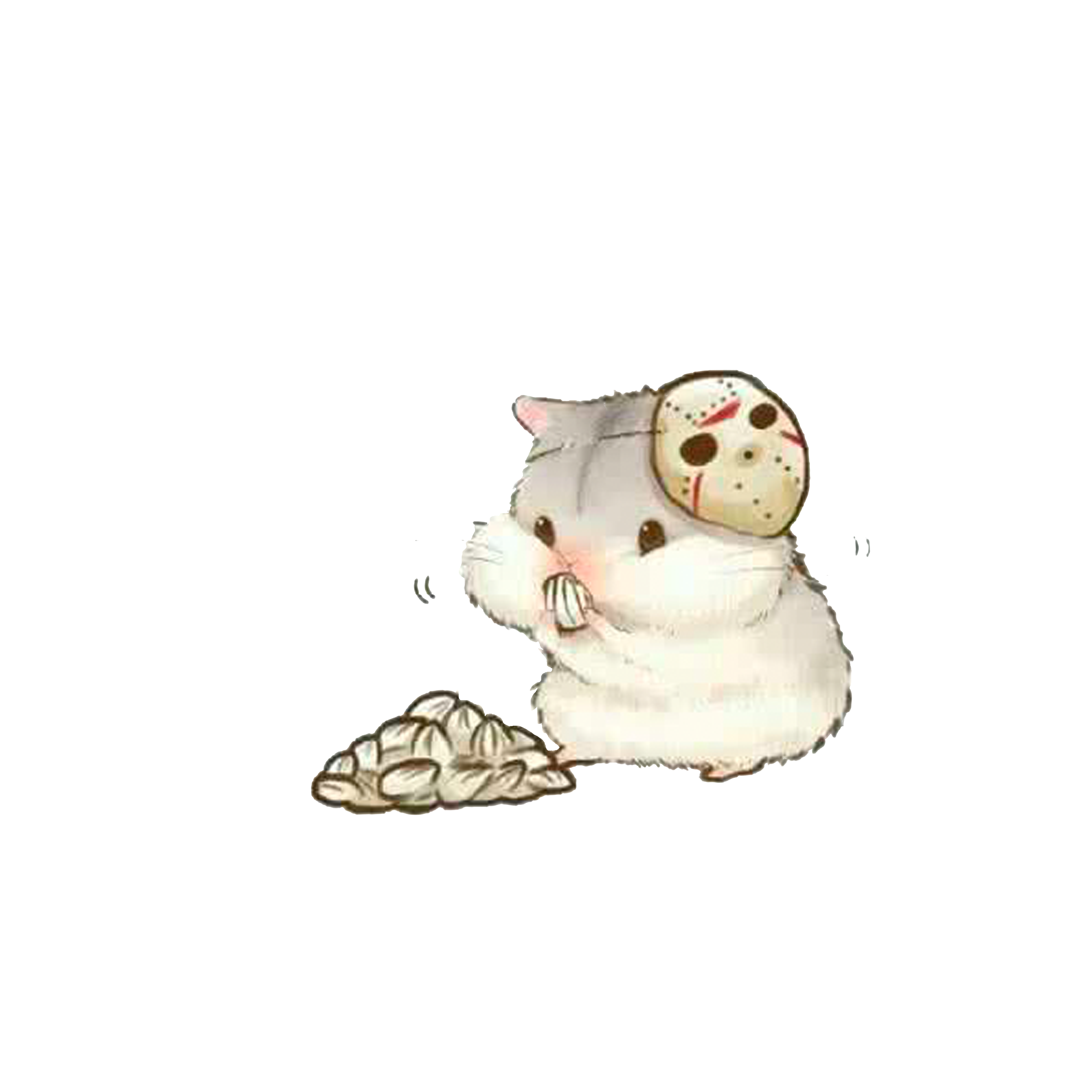 5000x5000 Hamster Drawing Chibi Kavaii Illustration