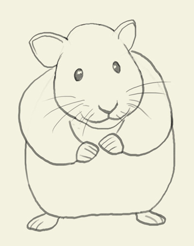 400x509 How To Draw Hamster