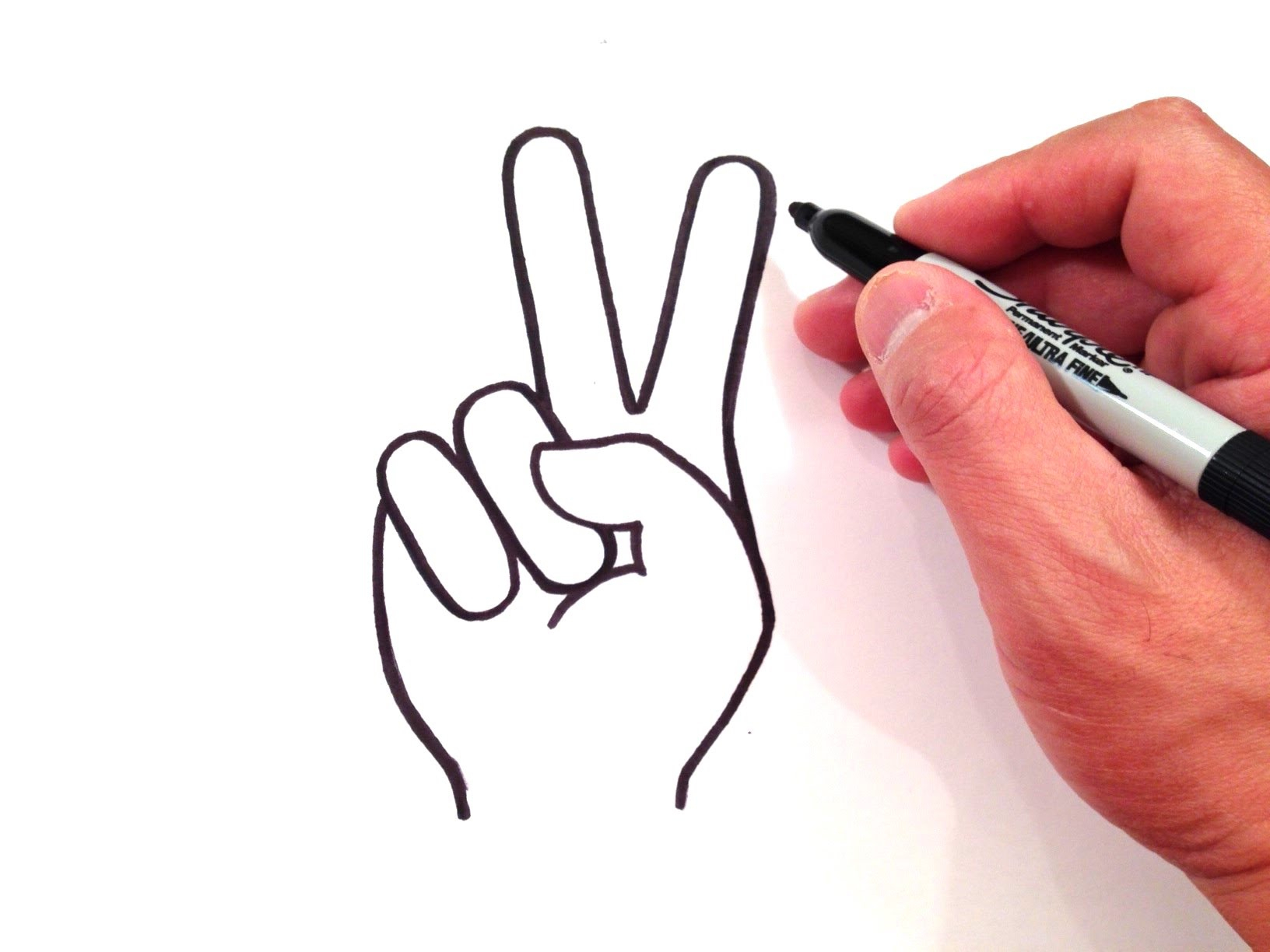 1632x1224 Hand Drawing Easy How To Draw A Peace Sign