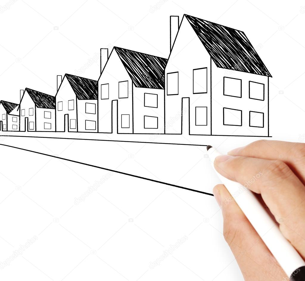1024x945 Hand Drawing House Model Stock Photo Aeydenphumi